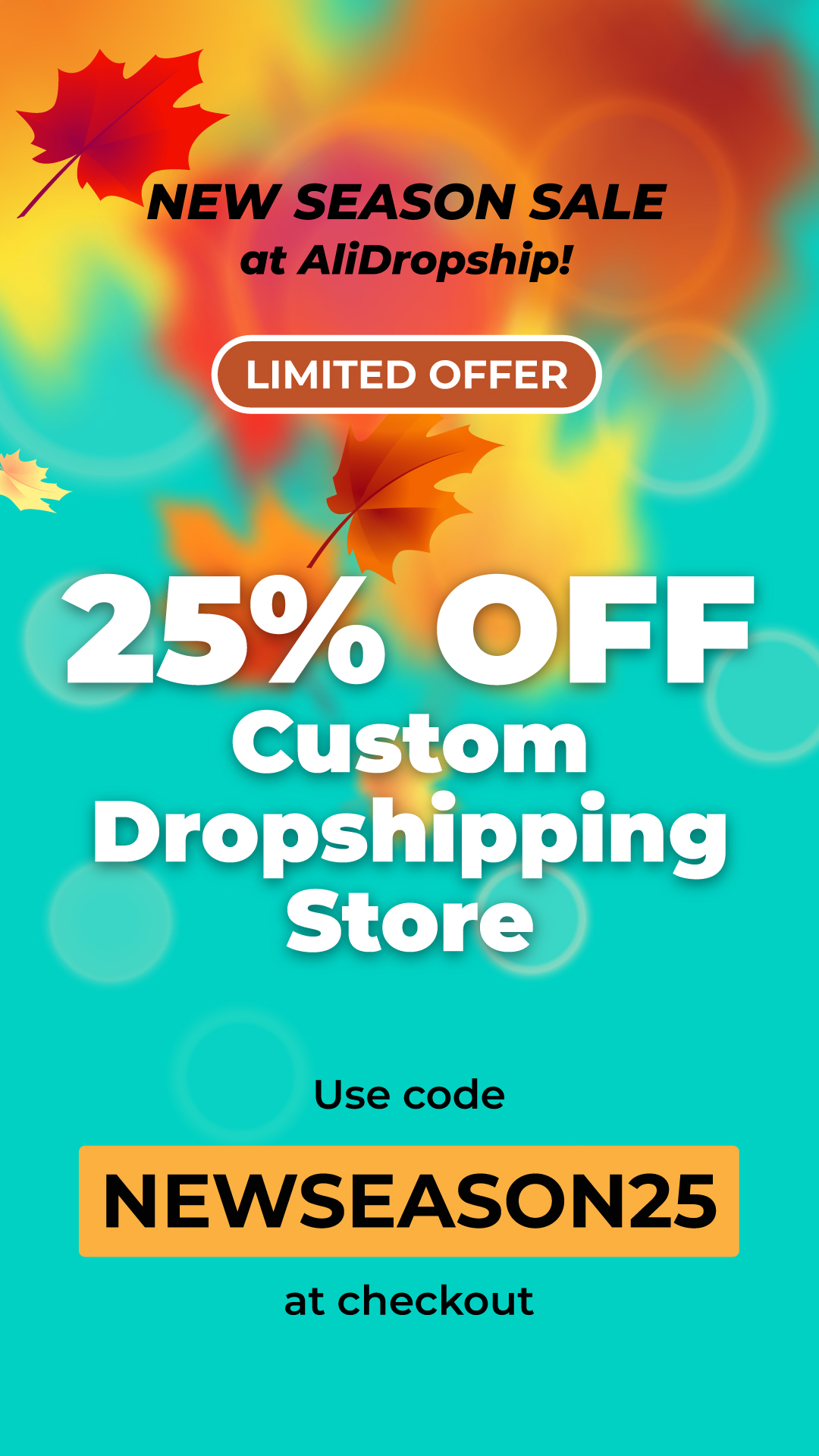 25% off Custom Dropshipping Store