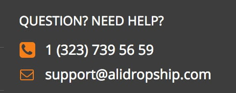 alidropship support