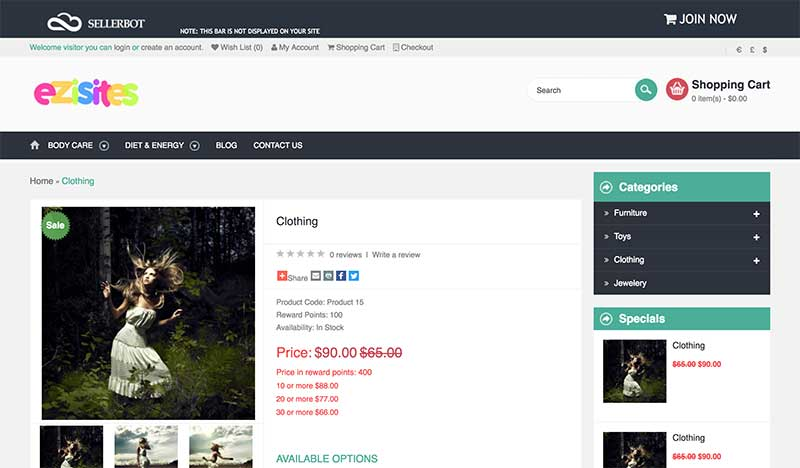 sellerbot product page