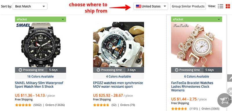 watches on aliexpress