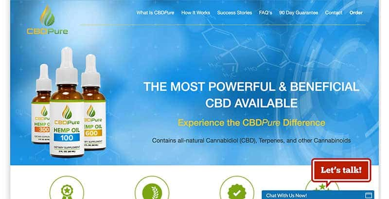 CBD pure homepage