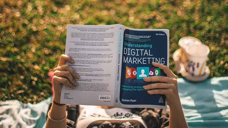 reading a marketing book