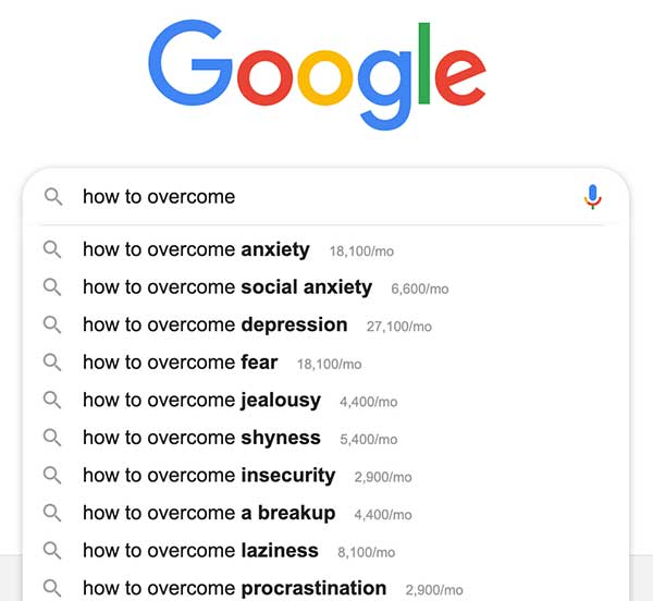 google instant results